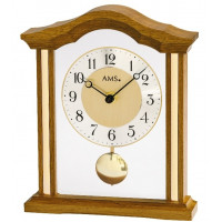 Luxusné drevené stolové hodiny 1174/4 AMS 23cm