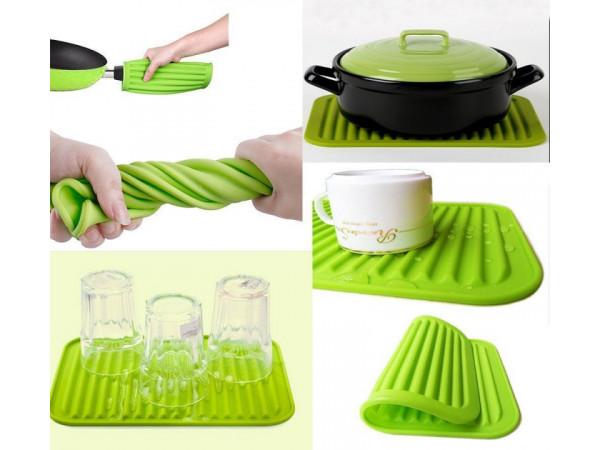 Kuchynská silikónová podložka - zelená
