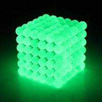 Neocube zelené svietiace, Fosforové 216 x 5mm