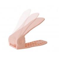 Plastový organizér na topánky - ružový, sada 2ks