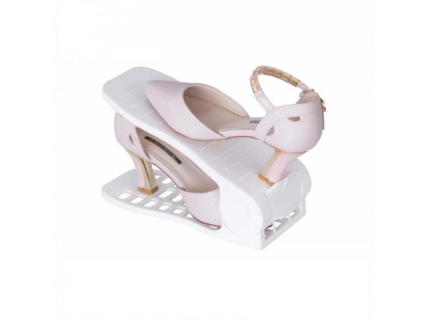 Plastový organizér na topánky - biely, sada 50ks