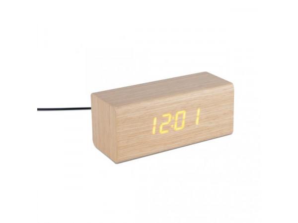 Budík Balvi Timber s LED diódami