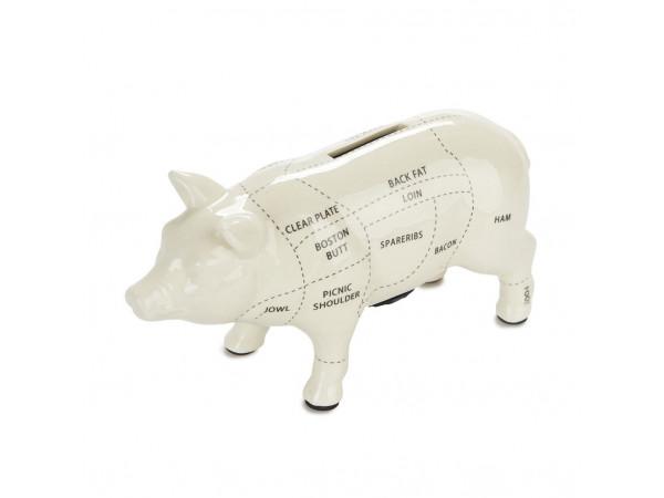 Pokladnička BALVI Cuts of Pork, krémová