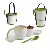 BLACK-BLUM Lunch Pot, biely / zelený