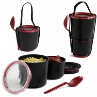 BLACK-BLUM Lunch Pot, čierny / červený
