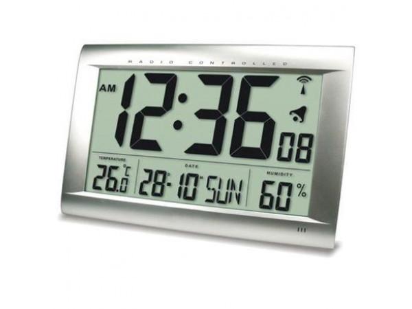 Digitálne nástenné DCF hodiny 1658 s teplomerom a vlhkomerom 41cm