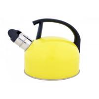 Kanvica smaltovaná s píšťalkou, Odelo, žltá, 1, 5 L