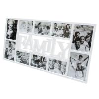 Fotorám Family na 10 fotiek, biely, 72x36cm