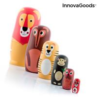 Drevená matrioška s postavičkami zvieratiek Funimals Innovagoods 11kusov