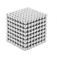 Magnetické guličky Neocube strieborné 512ks, 5mm Isot9452