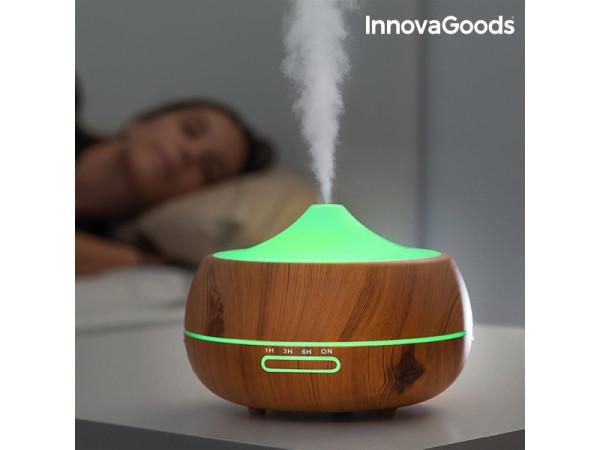 Zvlhčovač aróma difúzor InnovaGoods Aromatherapy Wood IN0980