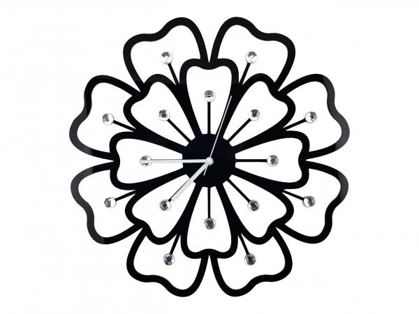 Nástenné hodiny Crystal Evevo, Black 49cm