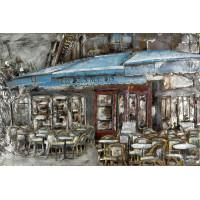 Kovový obraz 120X80 Parížska kaviarnička,FAM1069C