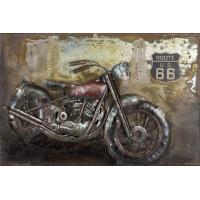 Kovový obraz ART 60x40cm Motorka G140318C
