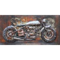 Kovový obraz 80x40cm Motorka
