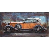 Kovový obraz 80x40cm Veterán