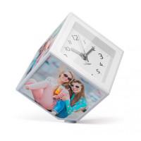 Rotujúca fotokocka s hodinami Balvi Photo-Clock 10x10cm