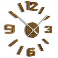 3D nalepovacie dubové hodiny DIY EKO z54g 75 d-2-x, 75 cm