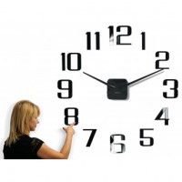 3D Nalepovacie hodiny DIY ADMIRABLE XL SWEEP z540, čierne 100-130cm
