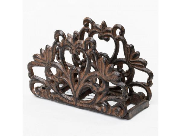 Držiak na servítky ORNAMENT, kov , flor0092, 14cm