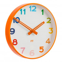 Detské nástenné hodiny Future Time FT5010OR Rainbow orange 30cm