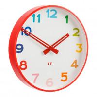 Detské nástenné hodiny Future Time FT5010RD Rainbow red30cm
