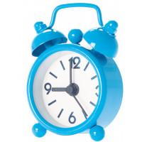 Budík MINI Alarm, modrý 6cm
