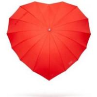 Dáždnik srdce - červený