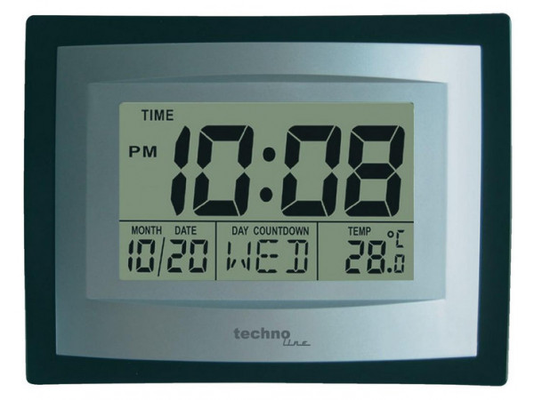 Digitálne nástenné hodiny Techno Line WS 8004 22cm