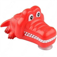 Držiak na kefku krokodíl - červený