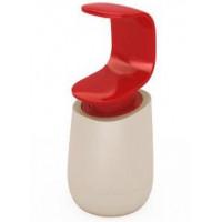 Dávkovač mydla ovládaný jednou rukou JOSEPH C-pump červený