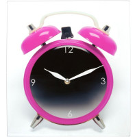 Hodiny Silly Twinbell Pink 35cm