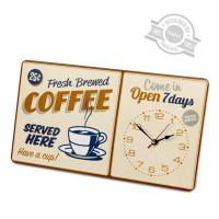 Hodiny Balvi Coffee 40cm