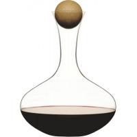 Karafa s drevenou guličkou SAGAFORM Ovak Oak, červené víno, 2L