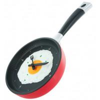 Kuchynské hodiny panvica, RED, 35cm