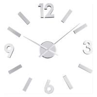 Nalepovacie nástenné hodiny Balvi 21212 Numbers nerez 60cm