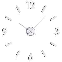 Nalepovacie nástenné hodiny JVD HB11 brúsený hliník 60cm