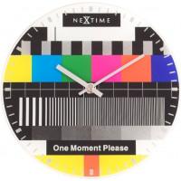Designové nástenné hodiny 5162 Nextime Little Testpage 20cm
