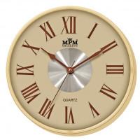 Nástenné hodiny MPM, 2 2976.51.H - hnedá svetlá, 30cm