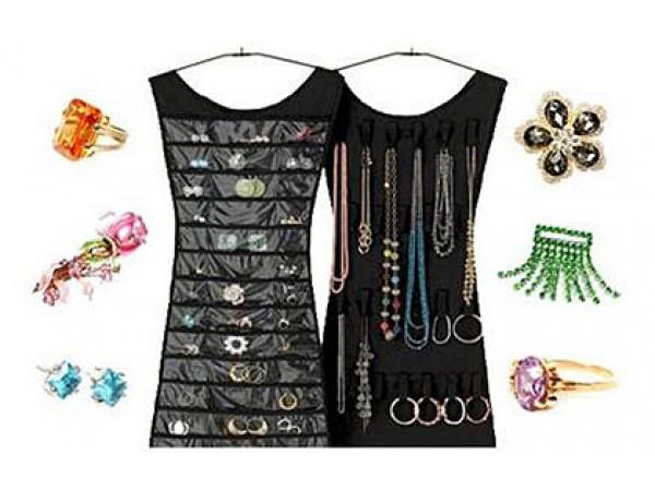 Organizér na šperky - čierna farba