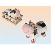 Pokladnička - kravička v ohrádke