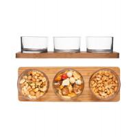Servírovací podnos SAGAFORM Taste, sklo / bambus