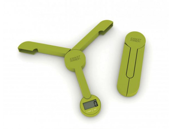 Skladacia digitálna kuchynská váha JOSEPH JOSEPH TriScale zelená