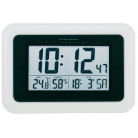 Solárne digitálne DCF nástenné hodiny 28cm