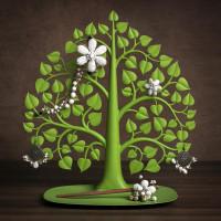 Stojanček na šperky Qualy Bodhi Accessories Tree, zelený
