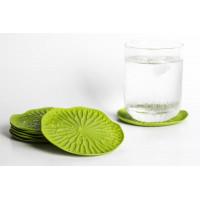 Tácky pod poháre Qualy Baibua Coaster, 2ks, zelená