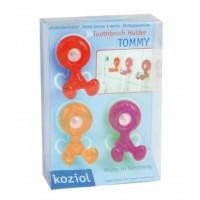 Tommy držiak na kefky set 3 ks Koziol, rôzne farby