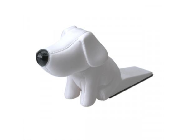 Zarážka do dverí v tvare psíka, biela