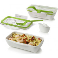 Lunch box BLACK-BLUM Bento, 500ml, biely / zelený