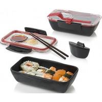 Lunch box  BLACK-BLUM Bento, 500ml, čierný/červený